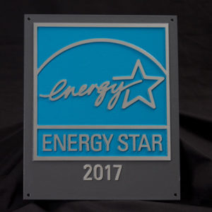 EPA Recycled Aluminum Plaque, 2017, for buildings and plants KIT