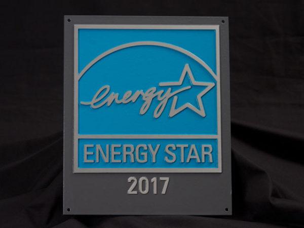 2017 Energy Star Aluminum Plaque