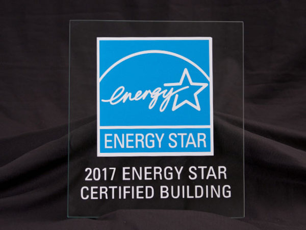 2017 Energy Star Certified Building Glass Plaque