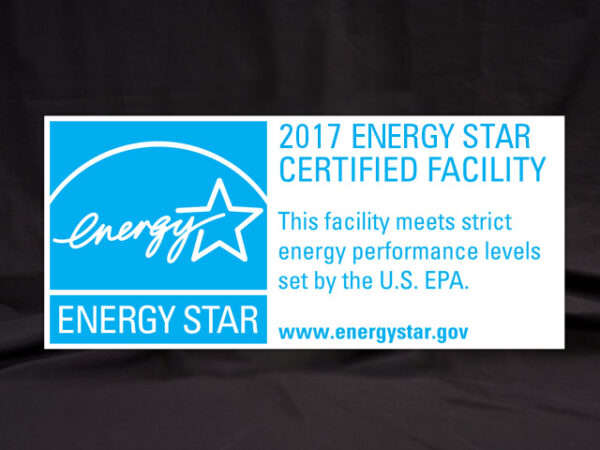 2017 Energy Star Certified Facility Banner
