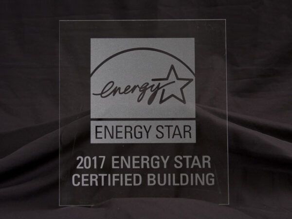 2017 Energy Star Certified Building Frosted Glass Plaque