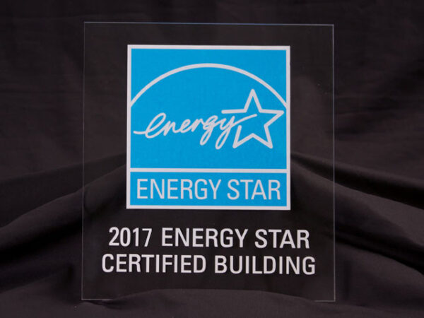 2017 Energy Star Certified Building Acrylic Plaque