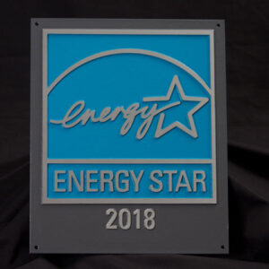 EPA Recycled Aluminum Plaque, 2018, for buildings and plants KIT