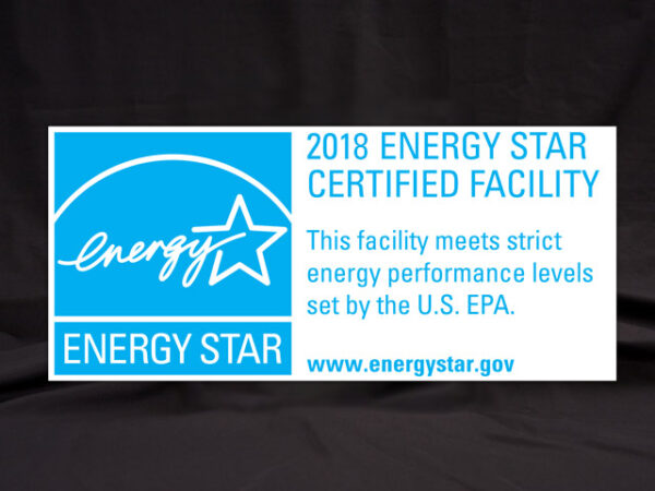 2018 Energy Star Certified Facility Banner