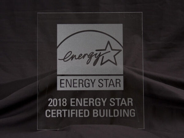 2018 Energy Star Certified Building Frosted Glass Plaque