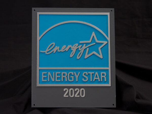 2020 Energy Star Aluminum Plaque