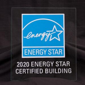 EPA Blue/White Acrylic Plaque, 2020, for buildings KIT