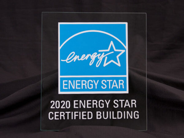 2020 Energy Star Certified Building Glass Plaque