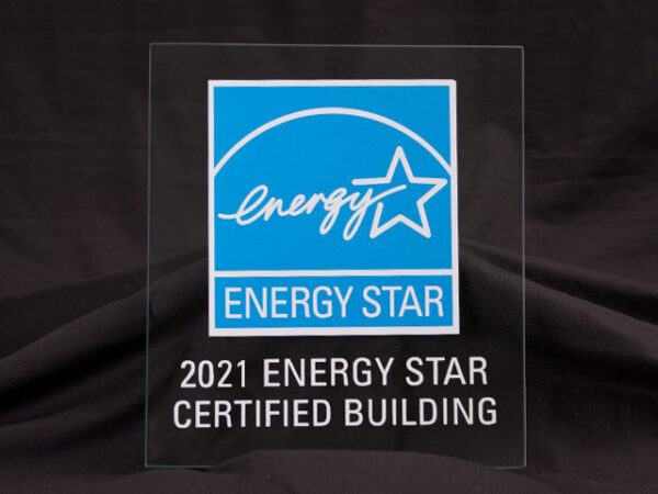2021 Energy Star Certified Building Glass Plaque