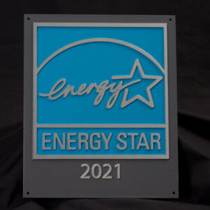 EPA Recycled Aluminum Plaque, 2021, for buildings and plants KIT